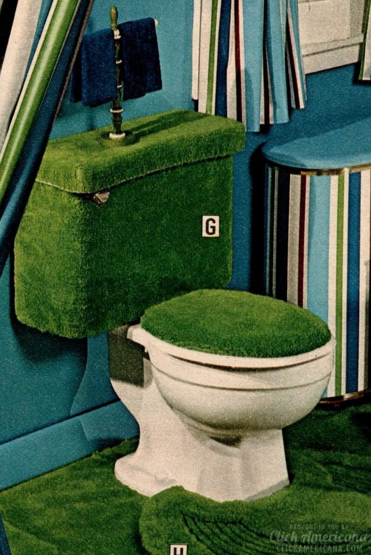 Check Out These 10 Fuzzy Toilet Covers From The 70s To See
