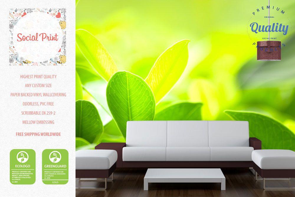 Custom Wallpaper Photo Leaves Green Child Room Bubble Wrap Decor Envelopes Nurseries