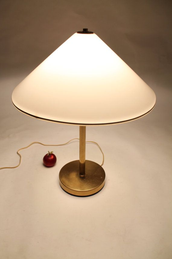 25 In Rare Koch Lowy Chinese Hat Perspex Shade Brass Table Etsy In 2020 Brass Table Lamps Brass Table Vintage Mid Century Lamps