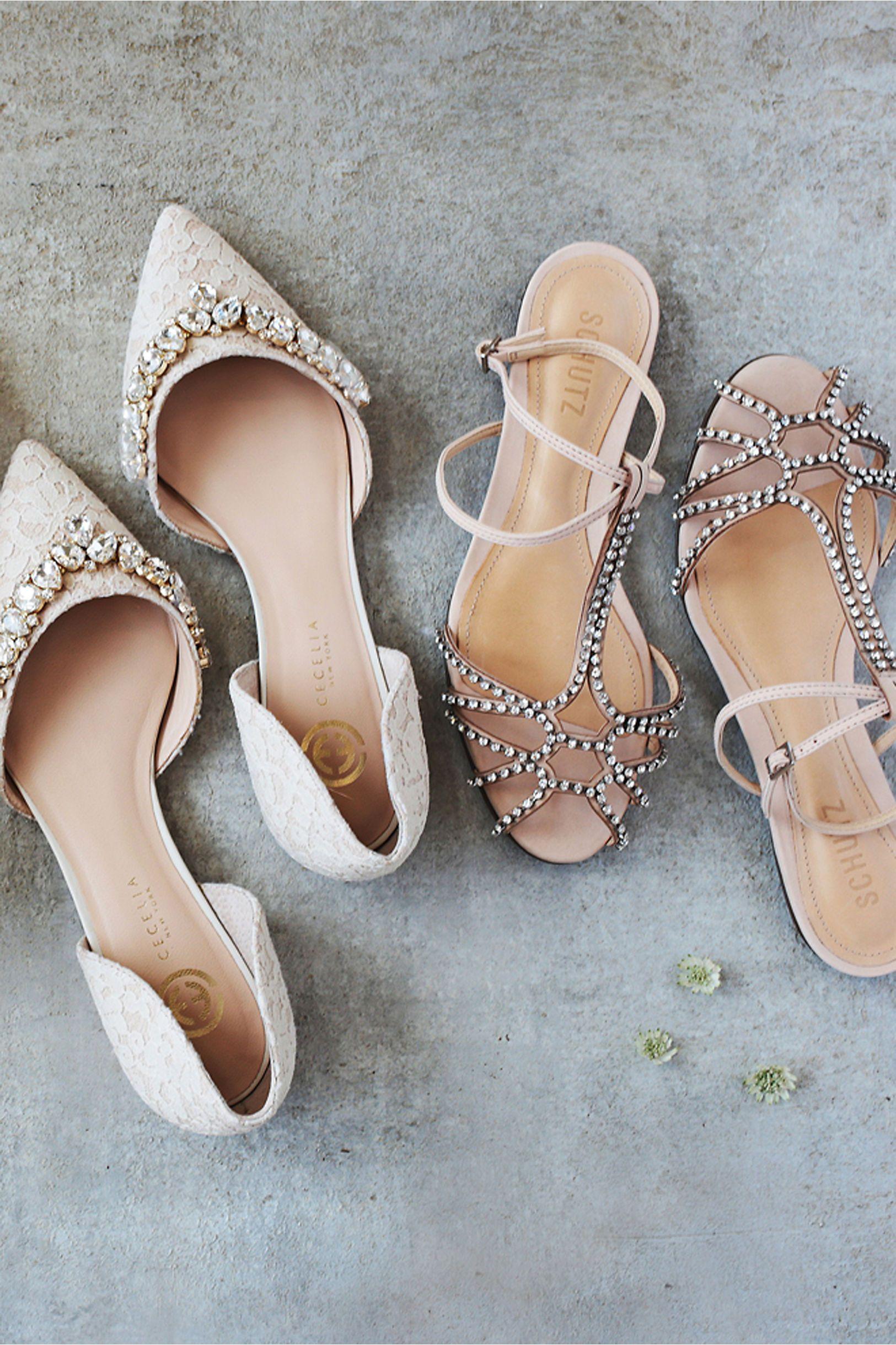 aecc5e56f2e6 Lotti Lace Flats + sparkling sandals from BHLDN | WEDDING SHOES ...