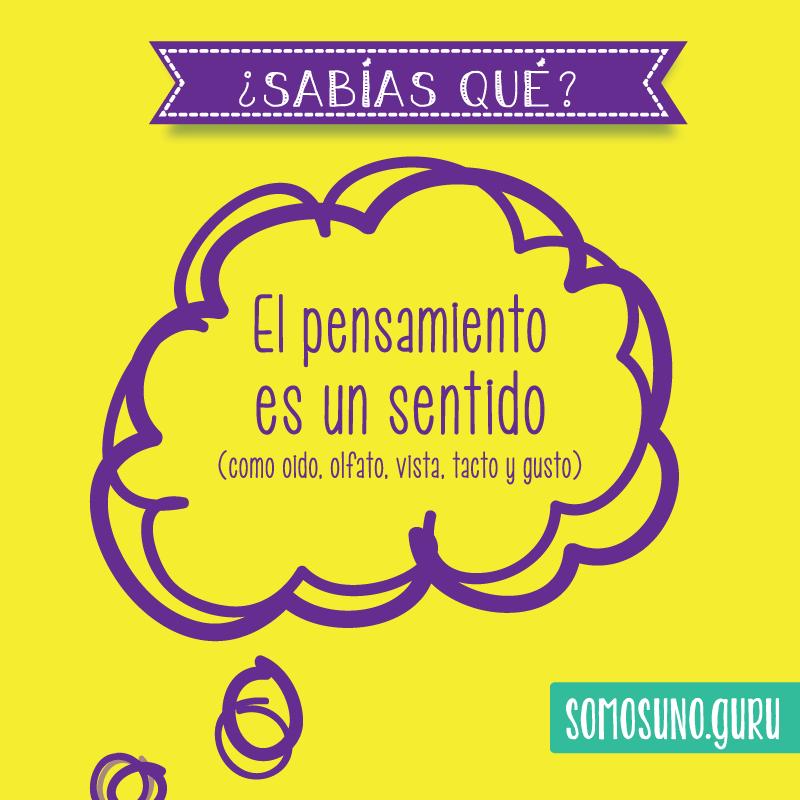 Pensamiento positivo: No te dejes controlar por tus pensamientos: la mente es charlatana. El pensamiento es un sentido.