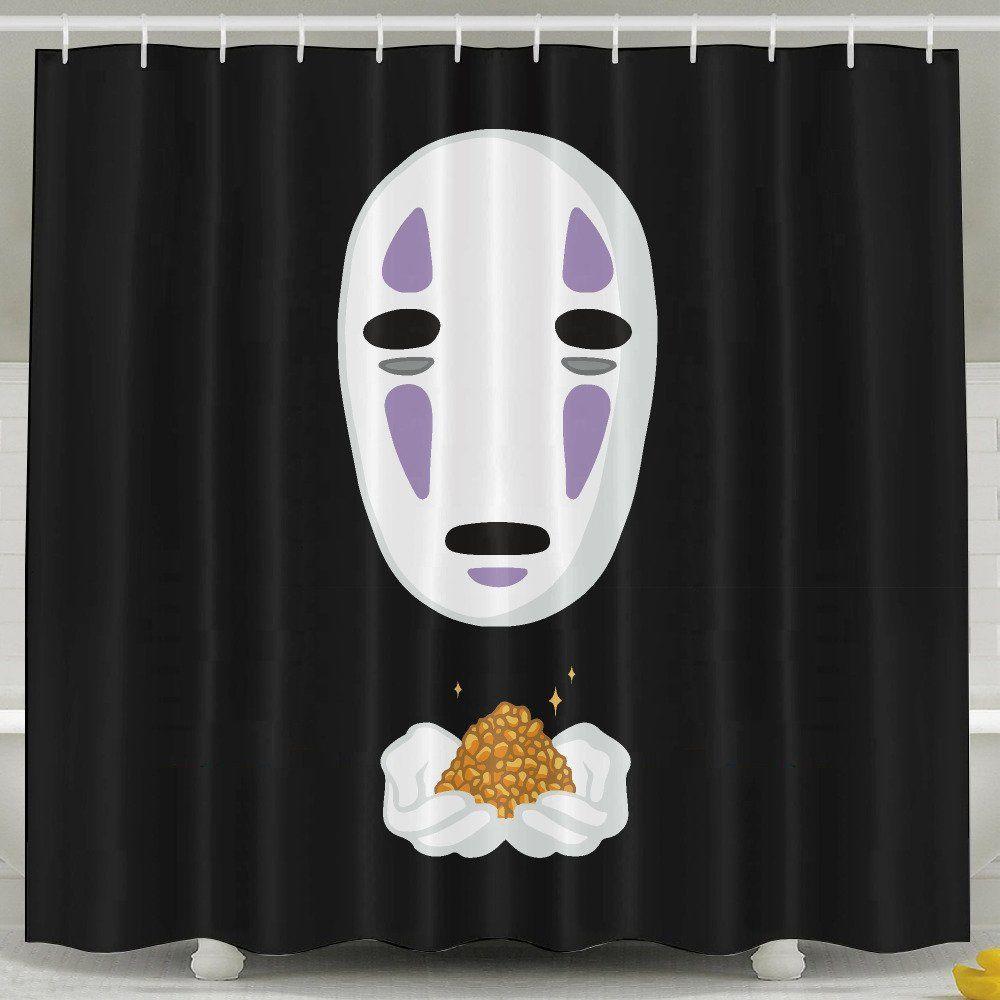 No Face Shower Curtain Spirited Away Studio Ghibli Anime Gifts