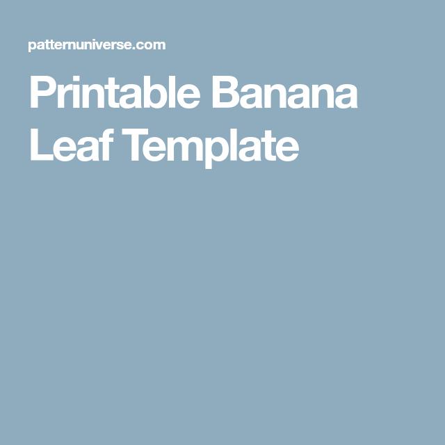printable banana leaf template  baseball card template