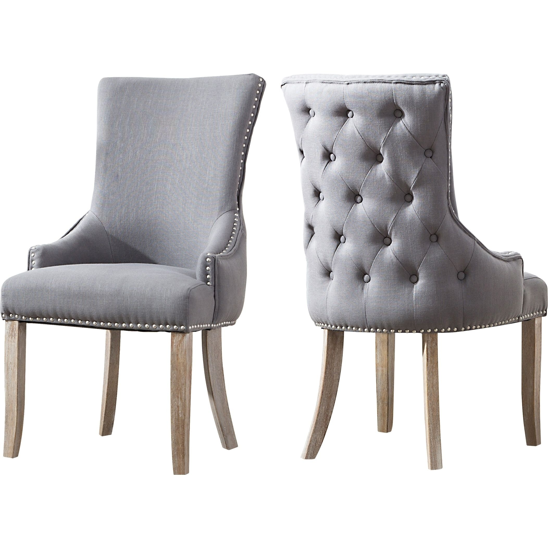 Best Quality Dining Room Furniture: Best Quality Furniture Grey Wingback Side Chair (Set Of 2