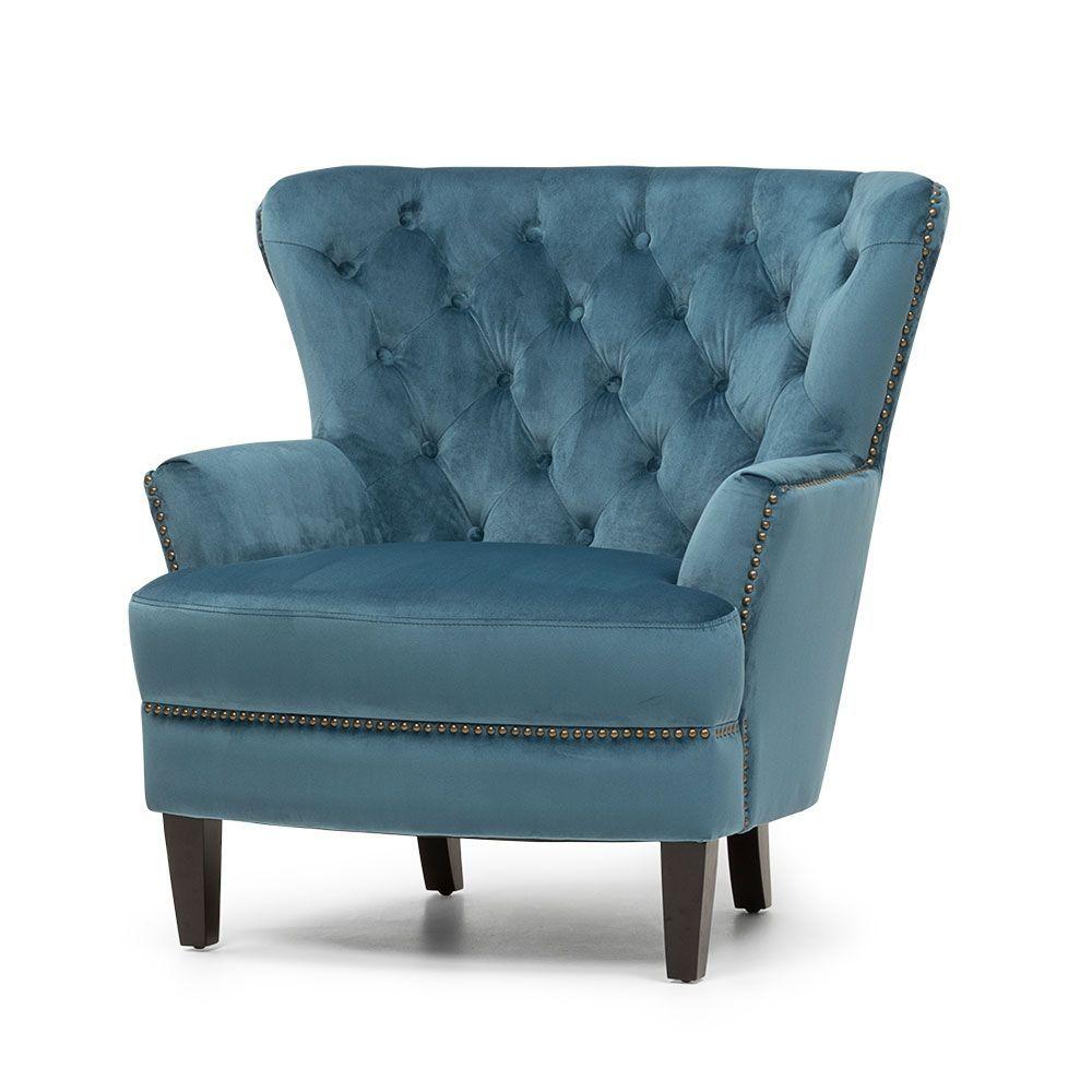 Elyse Velvet Arm Chair Marine Velvet Armchair Armchair Chair