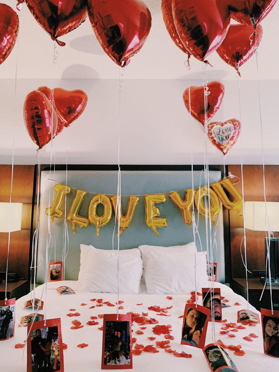Valentine S Day Hotel Room Surprise Romantic Room Decoration Birthday Room Decorations Romantic Room Surprise
