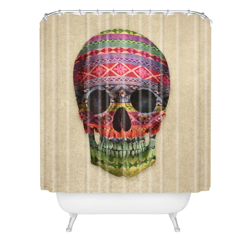 Terry Fan Navajo Skull Shower Curtain Deny Designs Home