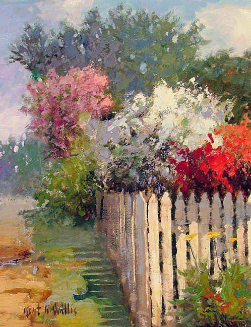 Maher Art Gallery نتائج البحث عن Kent Wallis Landscape Art Garden Painting Art Painting