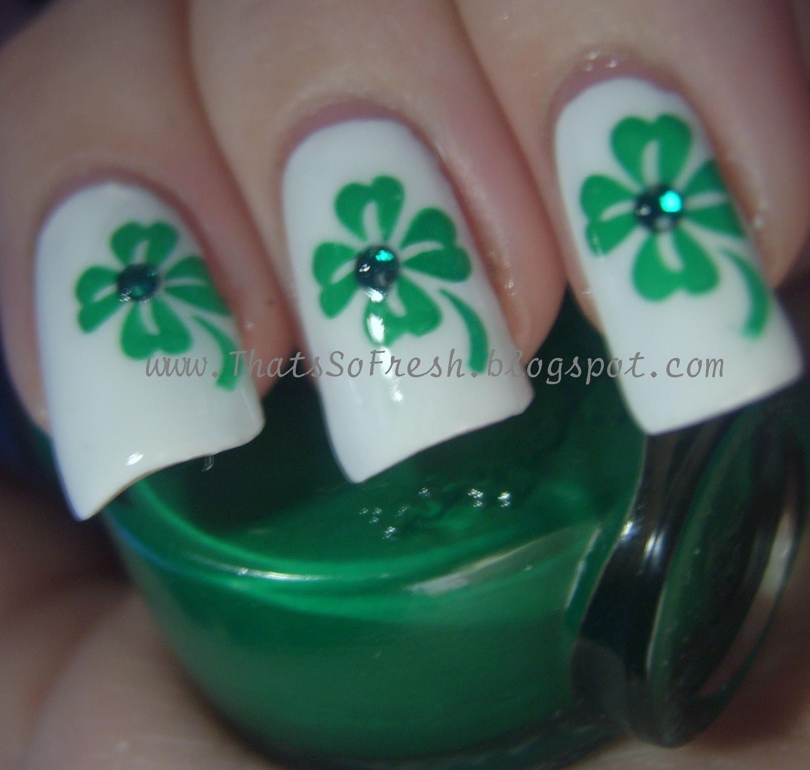 ThatsSOfresh: St.Patricks Day Nails! | uñas | Pinterest | Uña decoradas