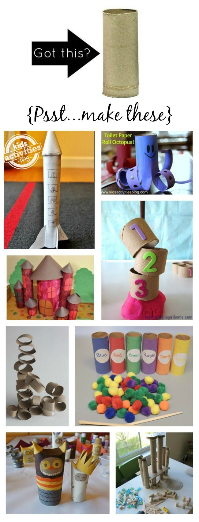 Love this list of toilet paper roll crafts especially #8!!