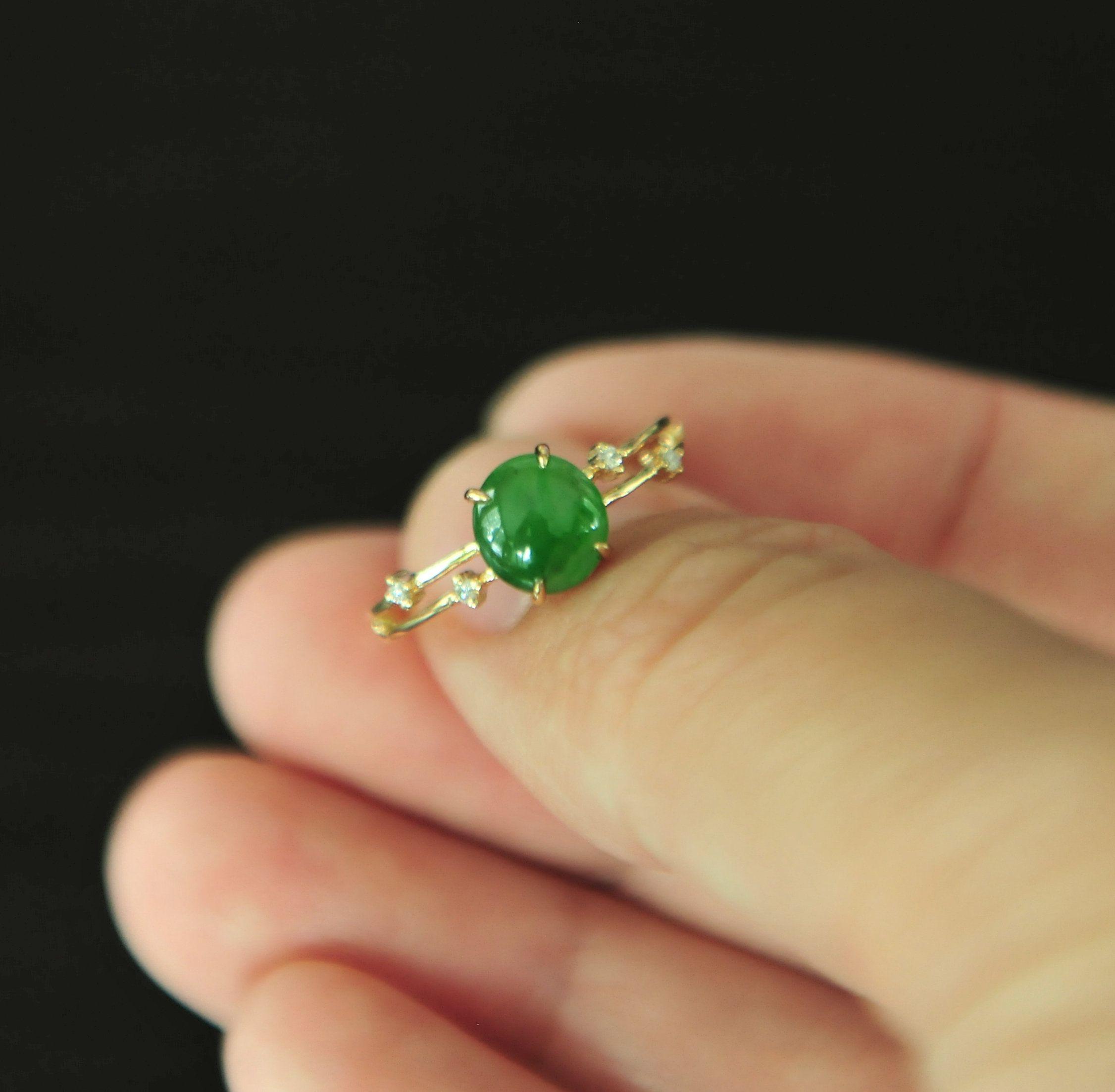 Green ring Engagement Ring Minimalist Ring Natural Silver Jade Ring Jade ring size 9 Anniversary Ring Jade Ring For Women,Ring Gem