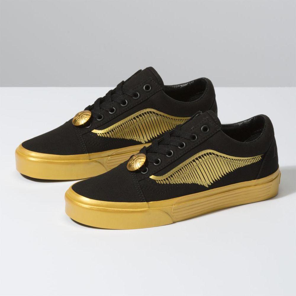 NEW Vans x Harry Potter Old Skool Quidditch Snitch Shoes 8.5 Men's ...