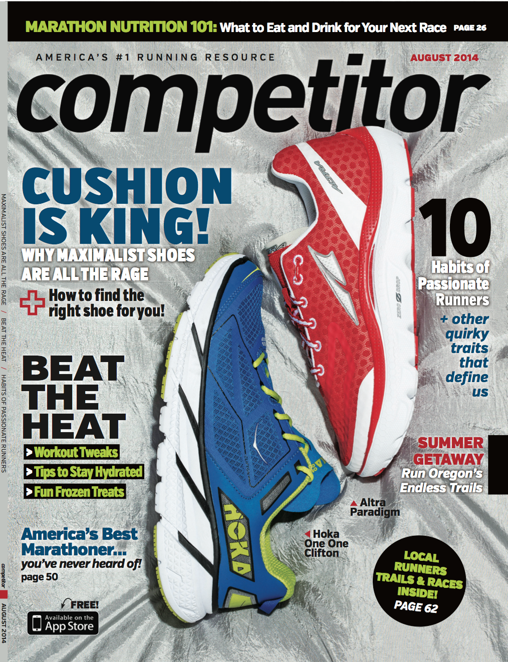 The Altra Paradigm on the cover of Competitor Magazine
