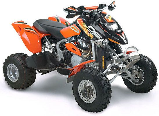 Bombardier Ds 650 Off Road Motorcycle Four Wheelers Atv