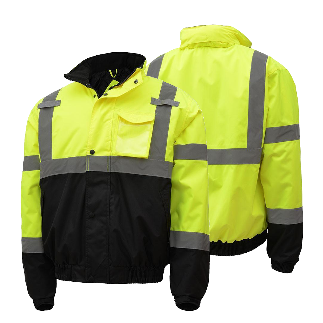 Pin By Hivis365 Com On High Visibility Jackets Quilted Bomber Jacket Jackets Bomber Jacket