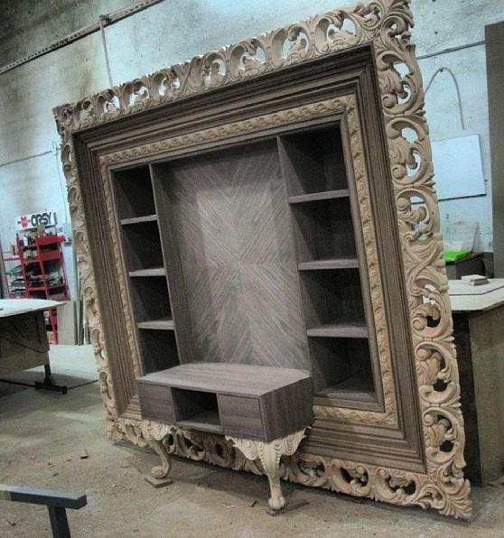 tv nitesi tasar m barrock vitrine. Black Bedroom Furniture Sets. Home Design Ideas