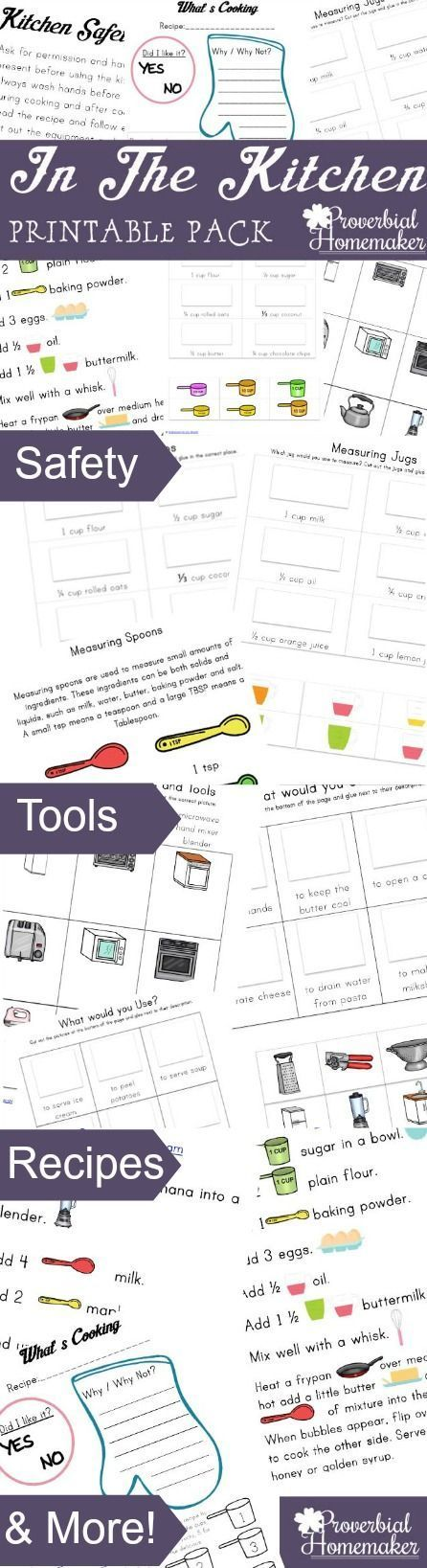 Kids In The Kitchen Printable Pack Cooking classes for