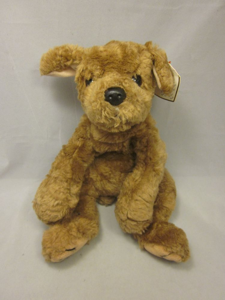 Ty Biscuit Puppy Dog Stuffed Animal Plush 16 Laying Down Retired