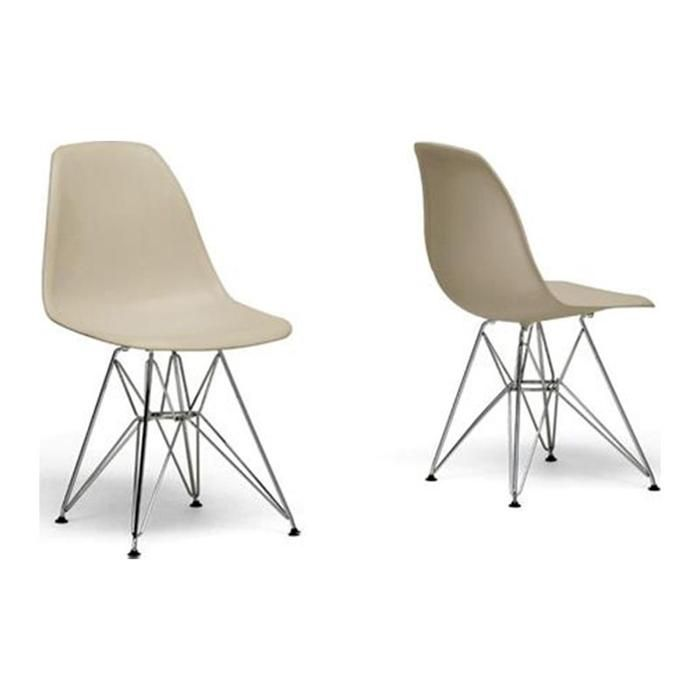 Mid Century Chairs In Beige   Set Of 2 | Nebraska Furniture Mart