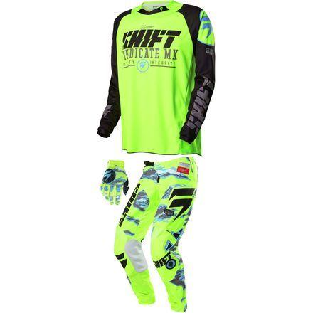 Shift 2018 Blue Label Combo 4th Kind Dirt Bike Gear Motocross