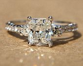 PLATINUM Princess Cut Diamond Engagement Ring - 1.37 carats...yes please:) lol