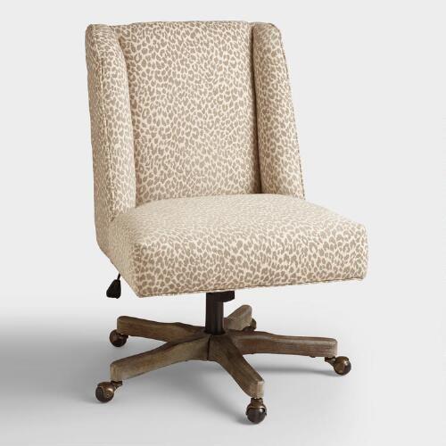 leopard office chair desk mali ava upholstered office chair shellys pinterest