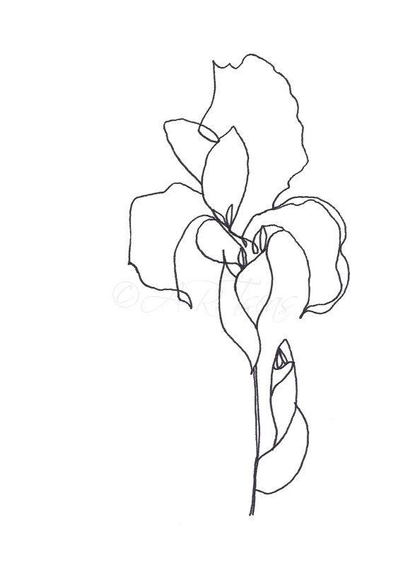 Original Abstract Minimalist Drawing Original Botanical Illustration Blume Ink On Paper Meta Name Pinterest Content Nopin Flower Prints Art Minimalist Drawing Botanical Drawings