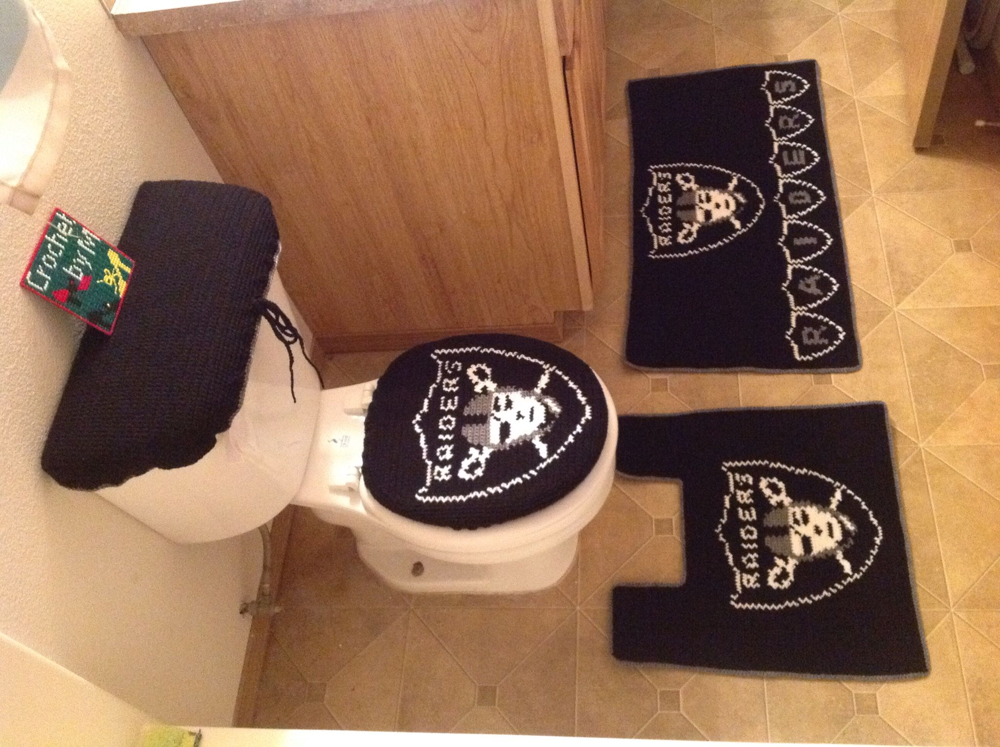 Crochet Raiders Bathroom Set By Me M