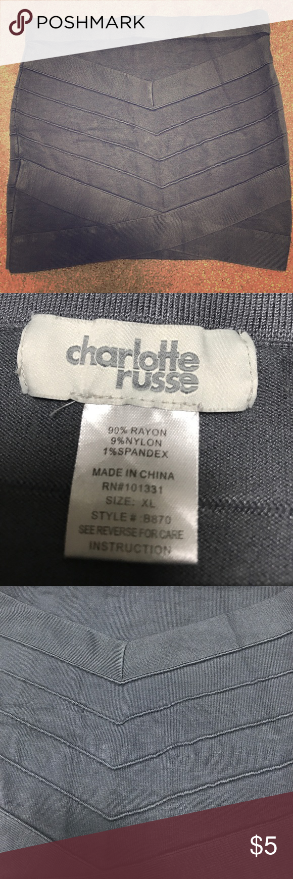 Banded skirt Charlotte Russe size XL fits like a m Banded skirt Charlotte Russe size XL fits like a med. good condition , loved for sure super comfy Charlotte Russe Skirts Mini