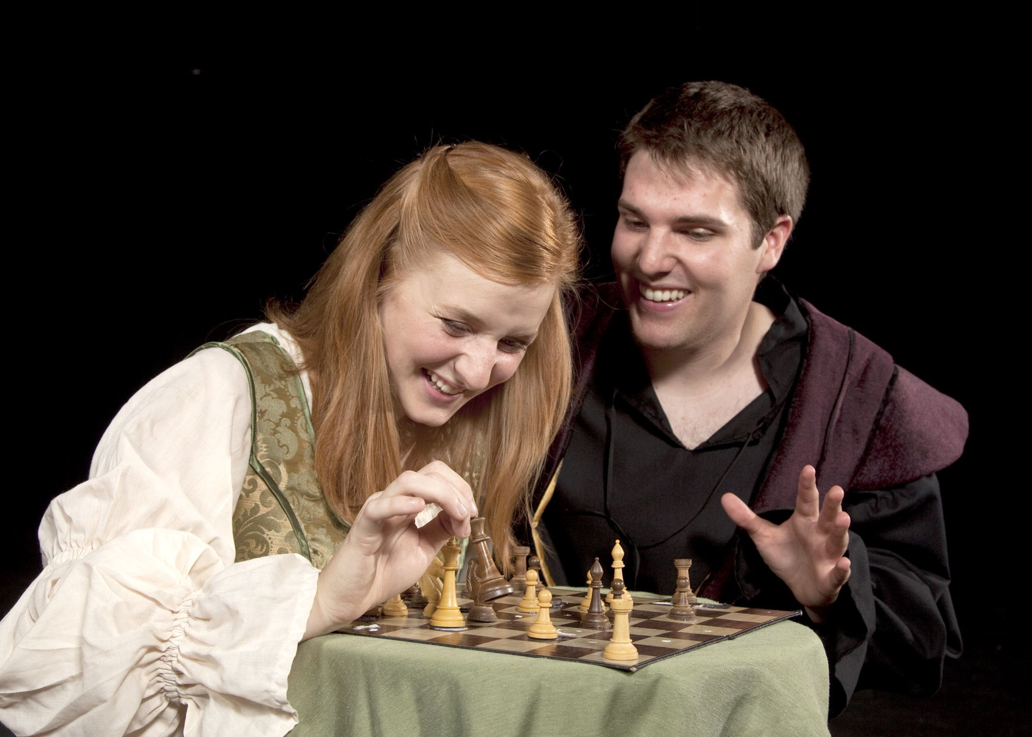 sandra orlow pussy Miranda and Ferdinand play chess in one of the final scenes in The Tempest  by Shakepeare