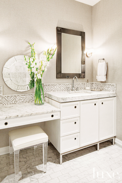 Vanity Table In The Ensuite Lucite Stool Glamorous