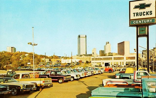 1970s Car Lot Chevrolet Dealership
