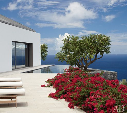 St. Barts Paradise.   A villagelike compound of Pristine White Pavilions with Breathtaking views