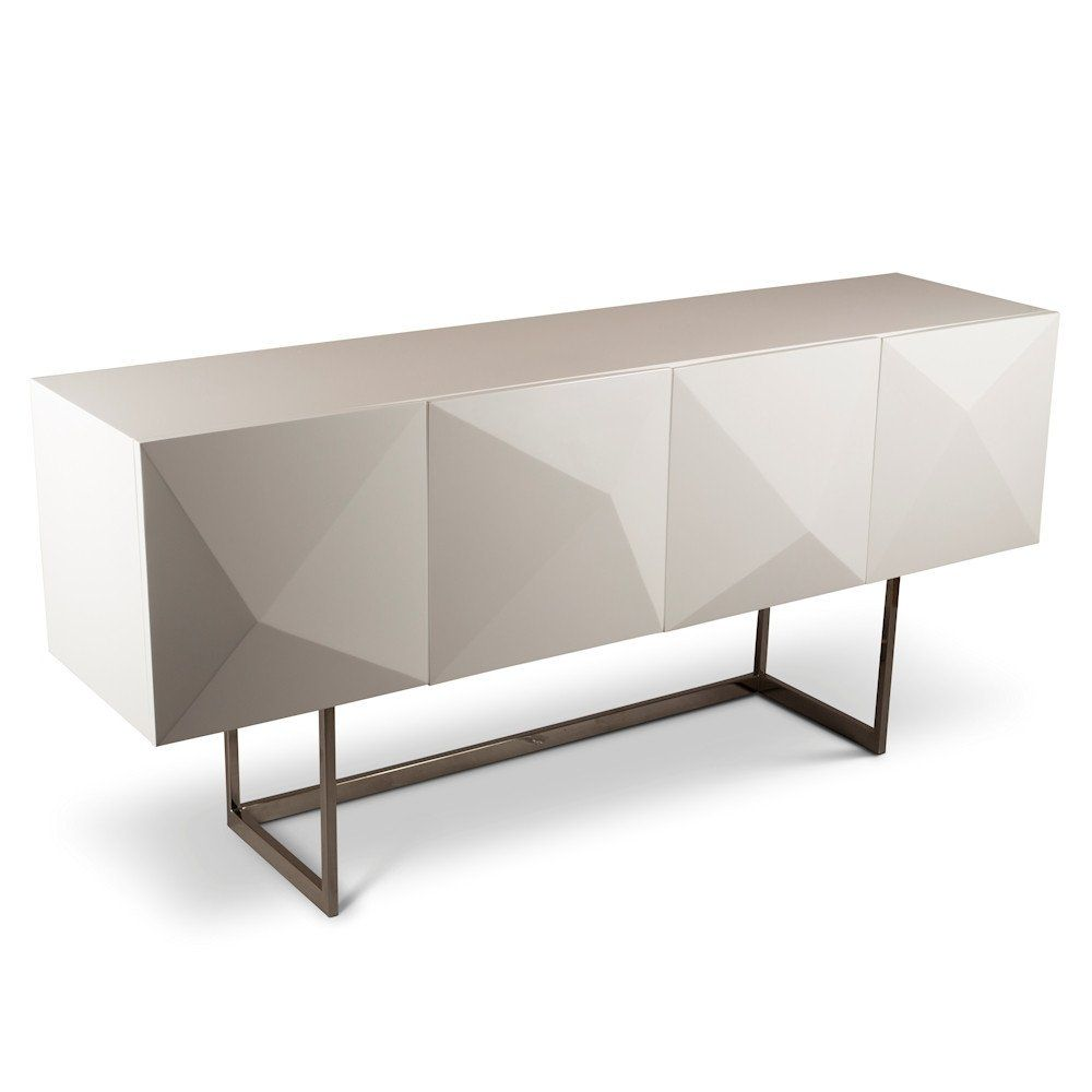 Cube White Lacquer Buffet Table