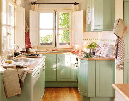 El Mueble Revista De Decoracion Cocinas Y Banos Cocinas Coloridas Y Decorar Cocinas Pequenas