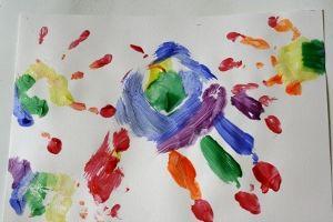 Rainbow handprints #crafts #kids #rainbow #paint