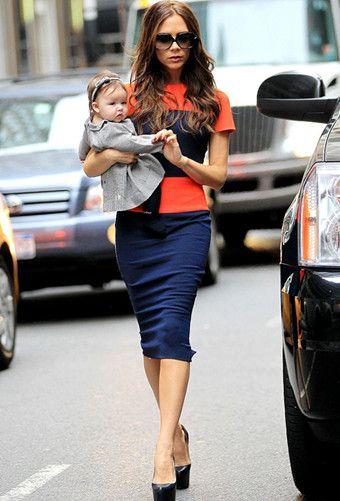 Victoria Beckham in Orange & Blue | Fabulous! Gatorwear ...
