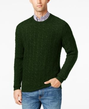 Club Room Mens Big And Tall Cable Knit Cashmere Sweater Only At