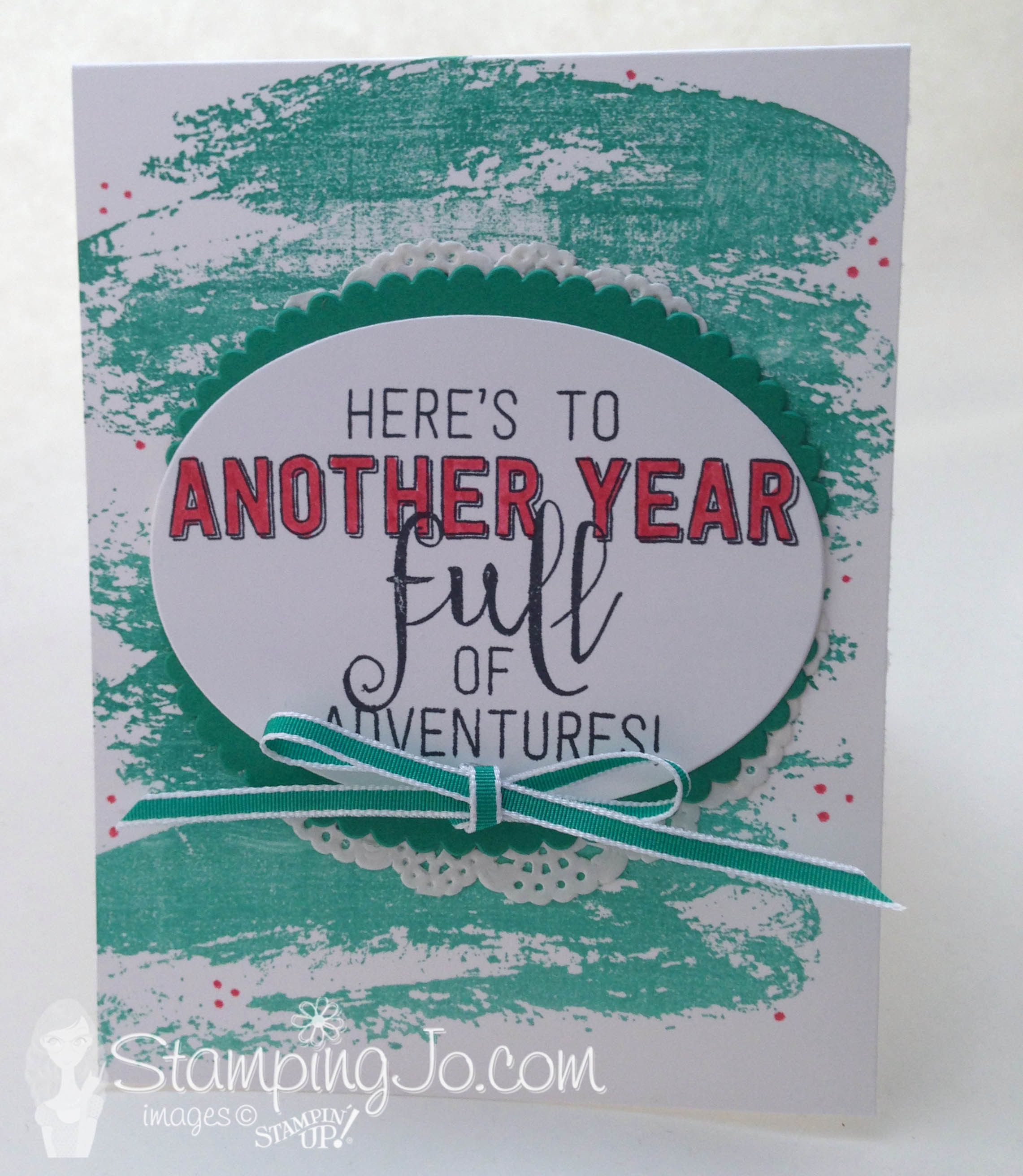 stamped Birthday card, Stampin Up, Balloon Adventures stamp set