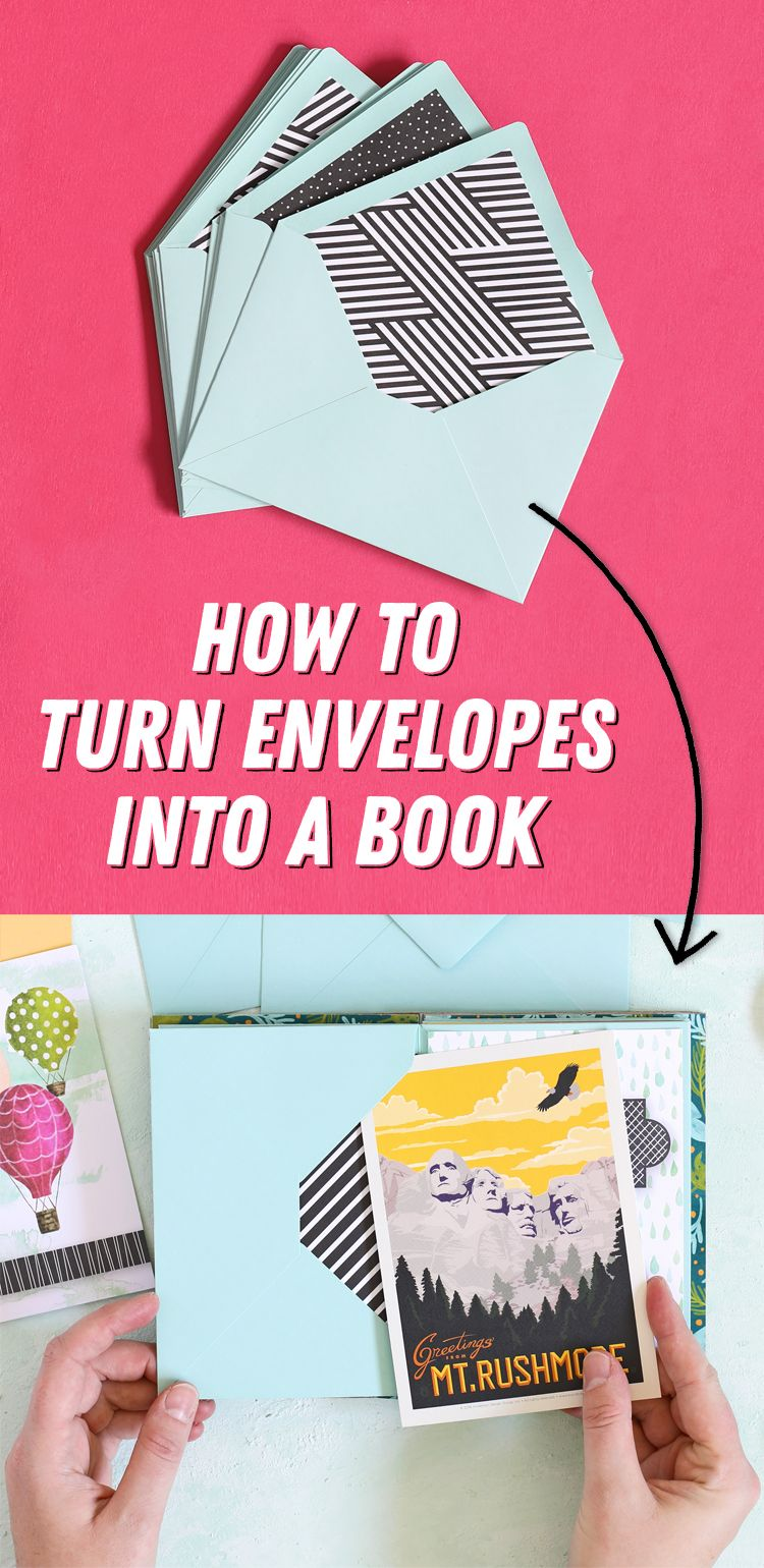 How To Make A Book Out Of Envelopes - The Craft Patch