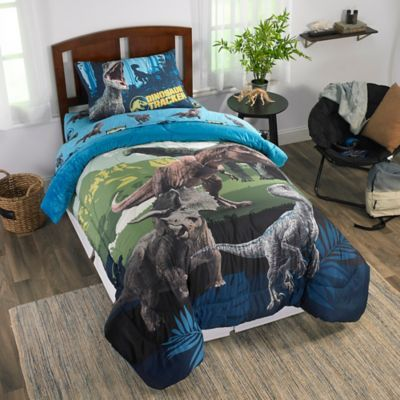 Jurassic World 2 Twinfull Reversible Comforter In Blue Multi In