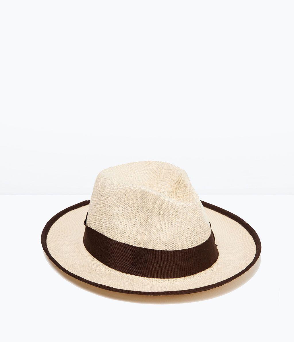 Wide Brim Straw Hat Beach Holiday Man Zara United States Mens Straw Hats Hats For Men Wide Brim Straw Hat