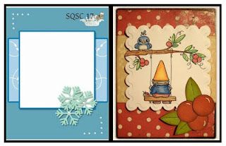 What a sweet card by Little of This Little of That! Love the way she colored the Gnome Playtime stamp!<3