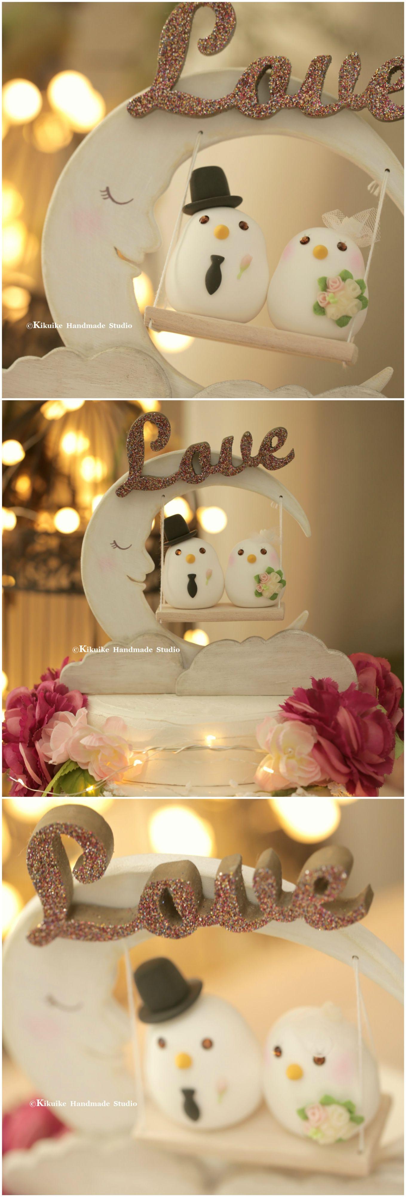 love birds Wedding Cake Topper (K312) | Bird cake toppers, Bird ...