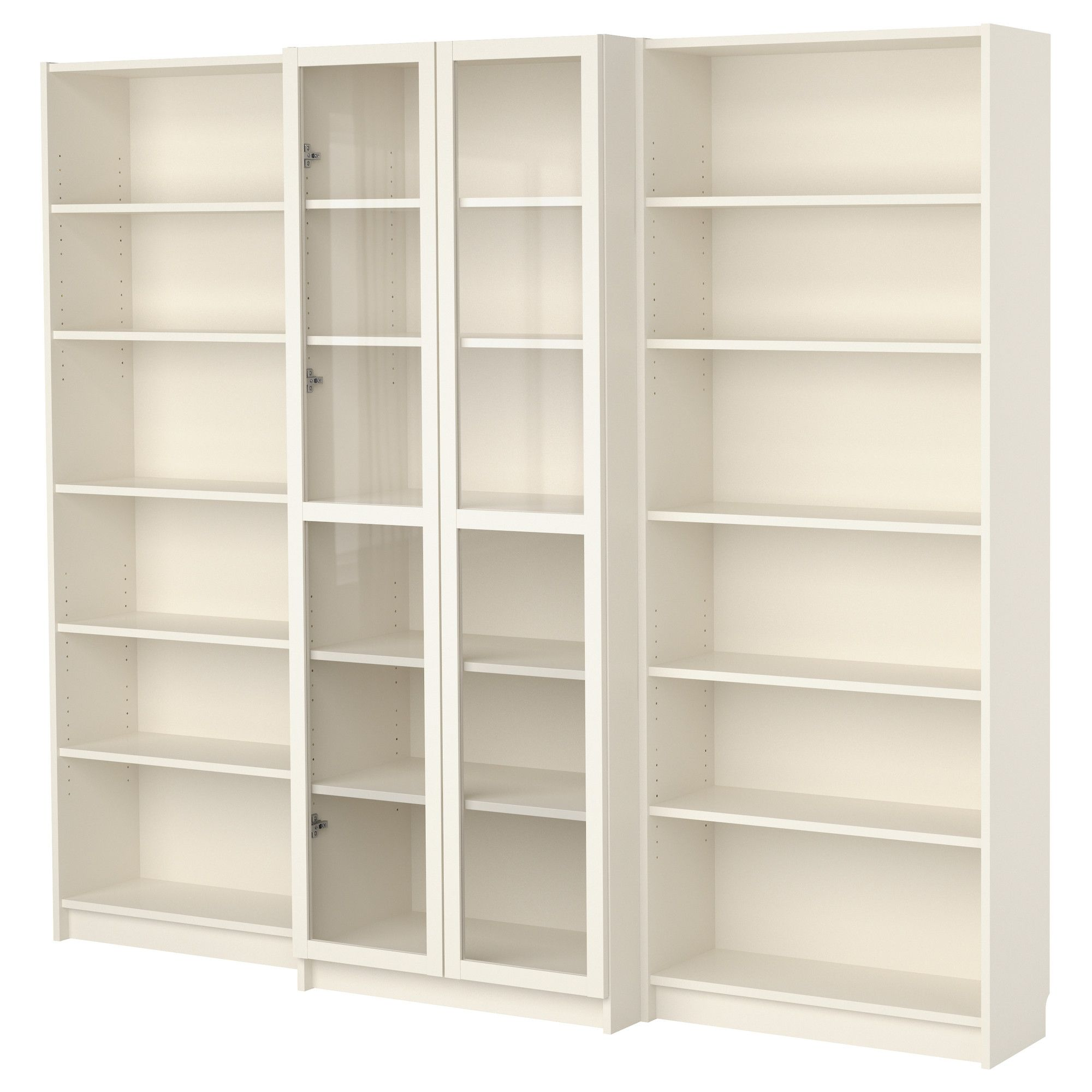 Billy bookcase combination with doors white ikea - Ante billy ikea ...