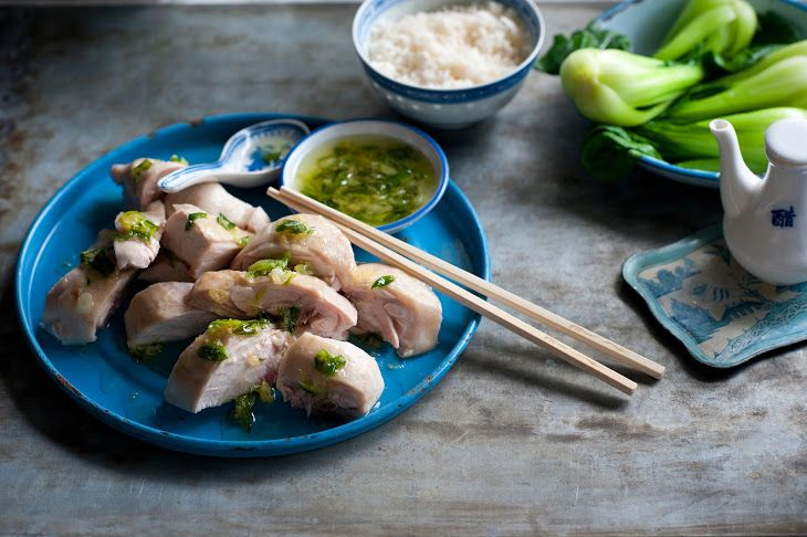 Your asian style poached chicken seems