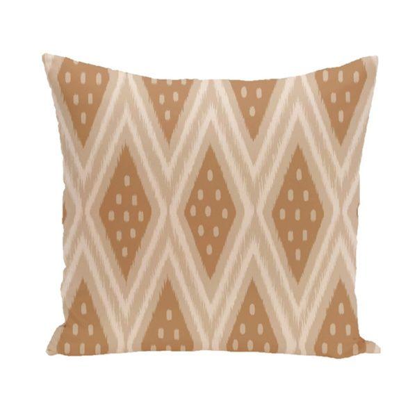 Tribal Diamond Geometric 20-inch Decorative Pillow