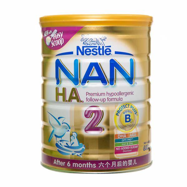 Nan H A 2 Hypoallergenic Formula 6m 800g Fairprice Baby Milk Best Baby Formula Baby Formula
