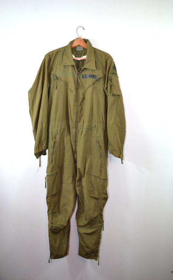 1b7a20ee36f Vintage Jumpsuit Coveralls US Army Coveralls US Army Flight Suit ...