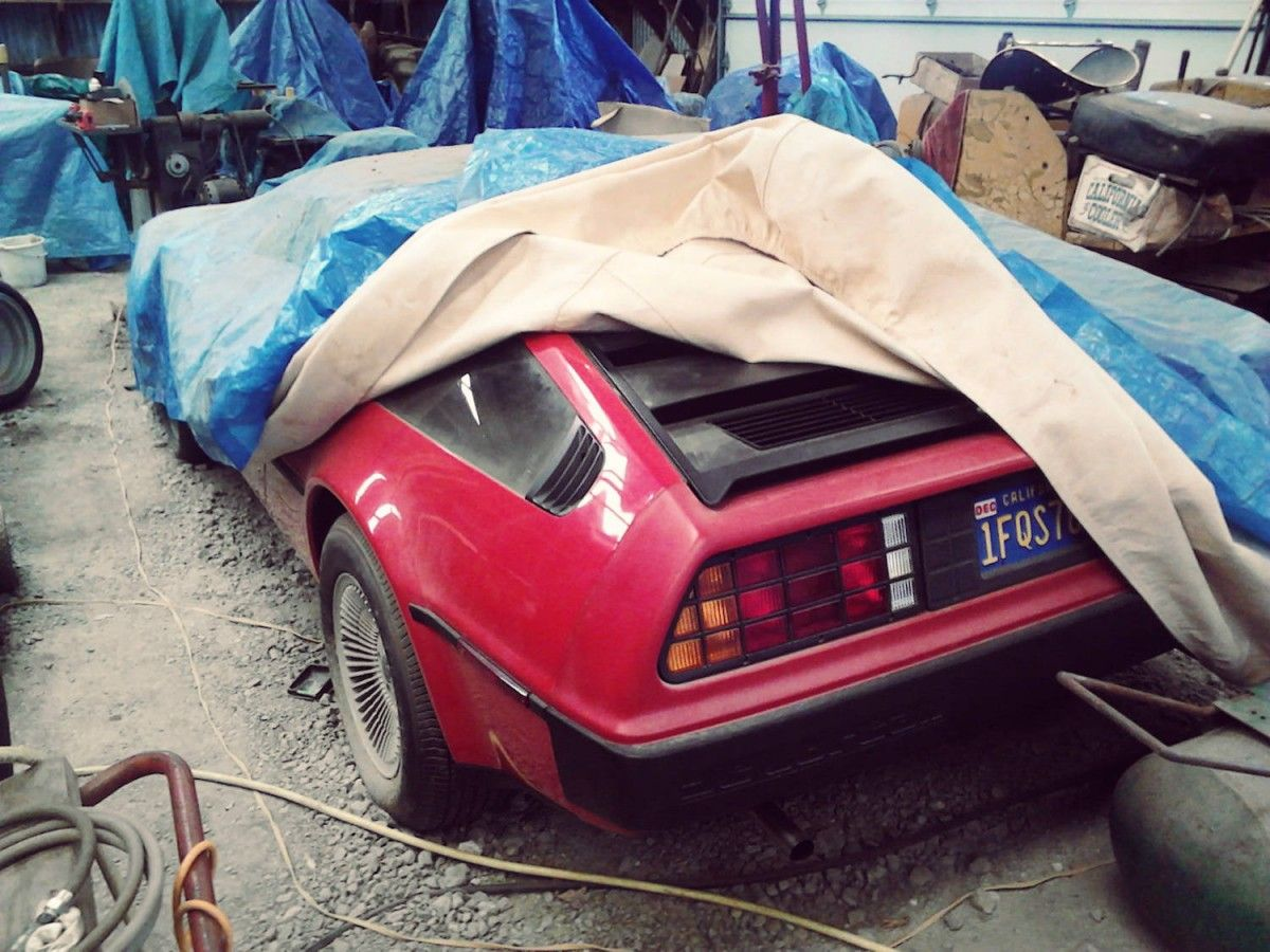 DeLorean DMC 12 Barn Find